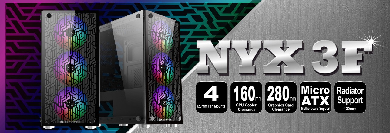 Vỏ case Xigmatek NYX 3F EN43040 No Fan