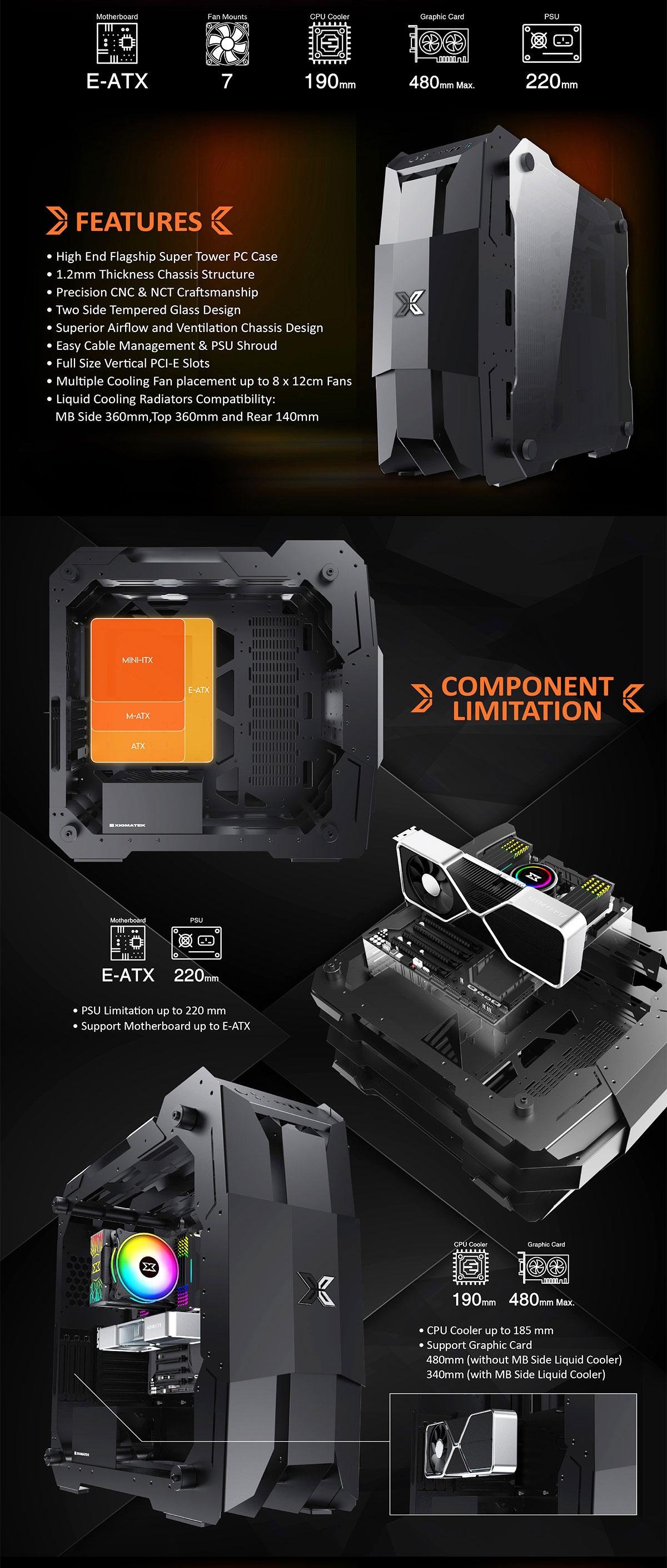 Vỏ Máy Tính Xigmatek X7 BLACK