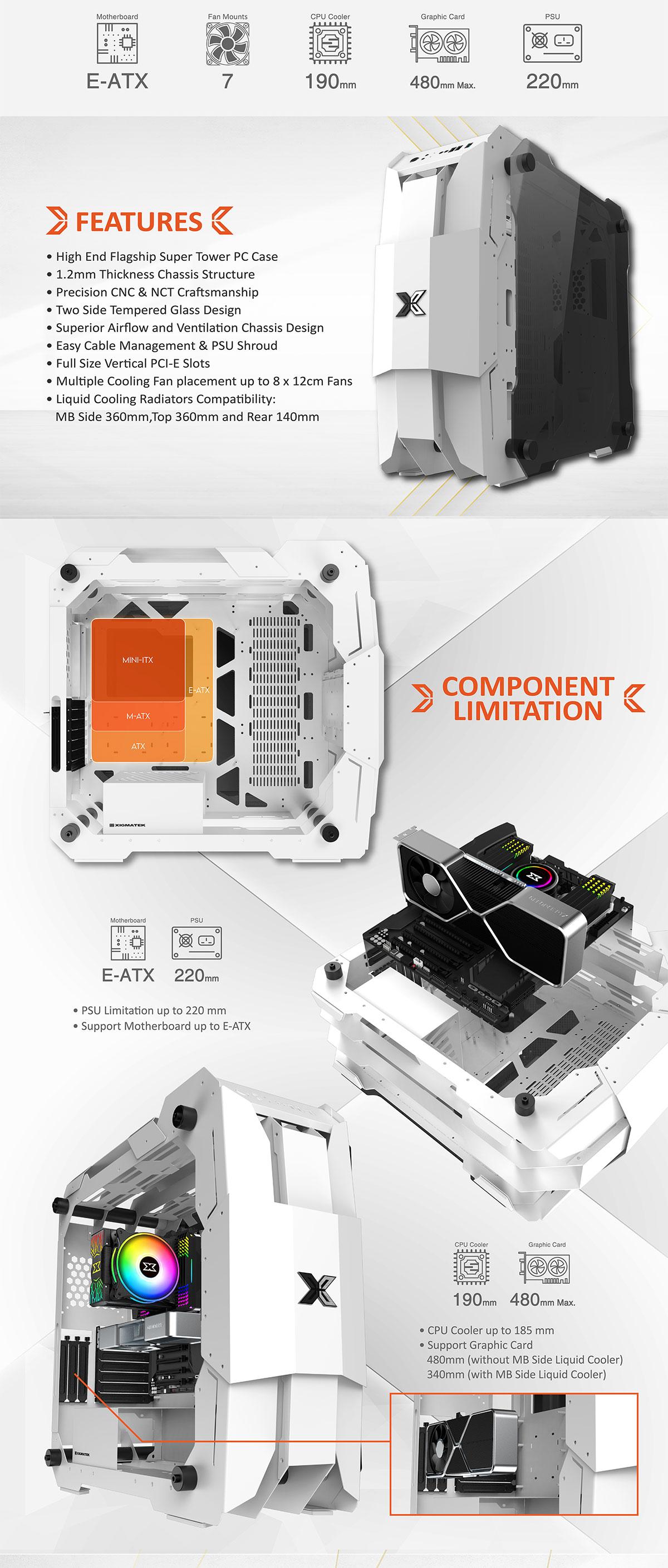 Vỏ Máy Tính Xigmatek X7 WHITE