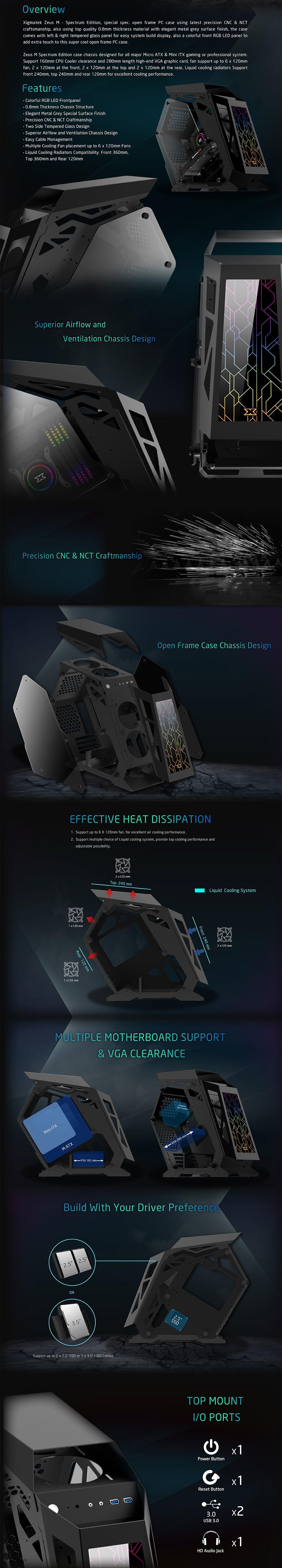 Thùng máy Xigmatek Zeus M Spectrum Edition EN44023