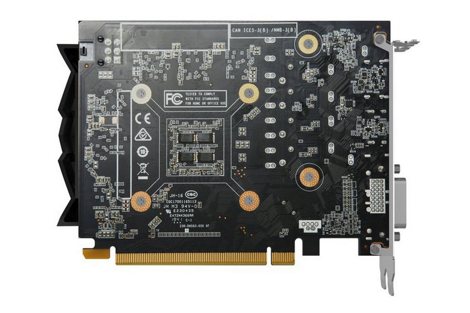 GAMING GeForce GTX 1650 SUPER Twin Fan 4G GDDR6 Back