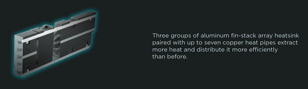 Ba nhóm tản nhiệt dạng dàn vây nhôm