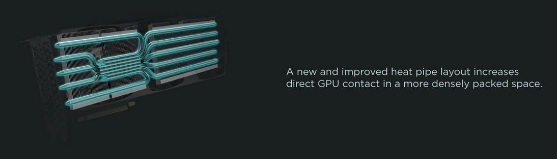 ZOTAC Gaming RTX 3090 Trinity có cách bố trí ống dẫn nhiệt mới