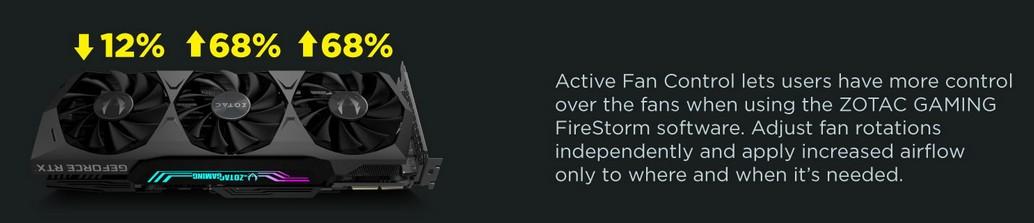 Active Fan Control cho phép người dùng kiểm soát nhiều hơn