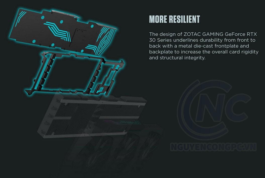ZOTAC Gaming RTX 3090 Trinity được tập trung vào độ bền