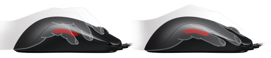 Chuột Zowie ZA11-B được thiết kế có các nút bên ở cạnh phải đã được loại bỏ
