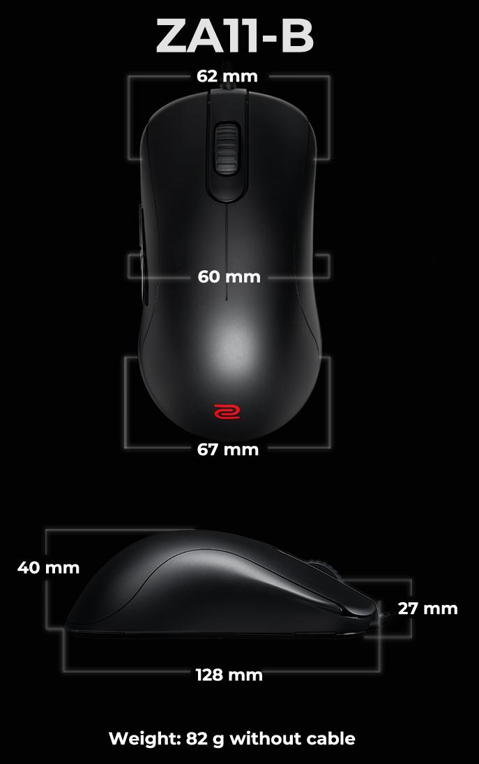 Kích thước Chuột Zowie ZA11-B