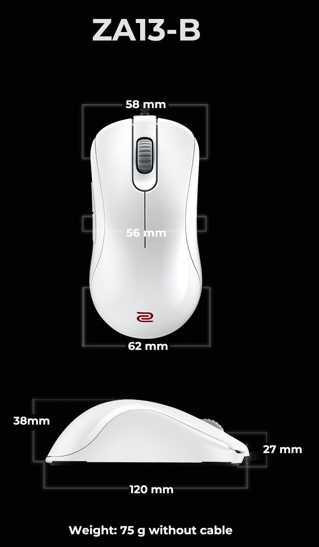 Kích thước Zowie ZA13-B White