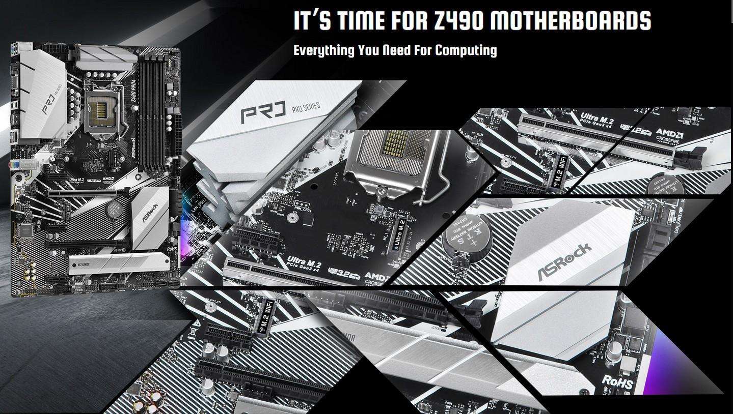 Mainboard Asrock Z490 Pro4 Mọi thứ bạn cần để tính toán...