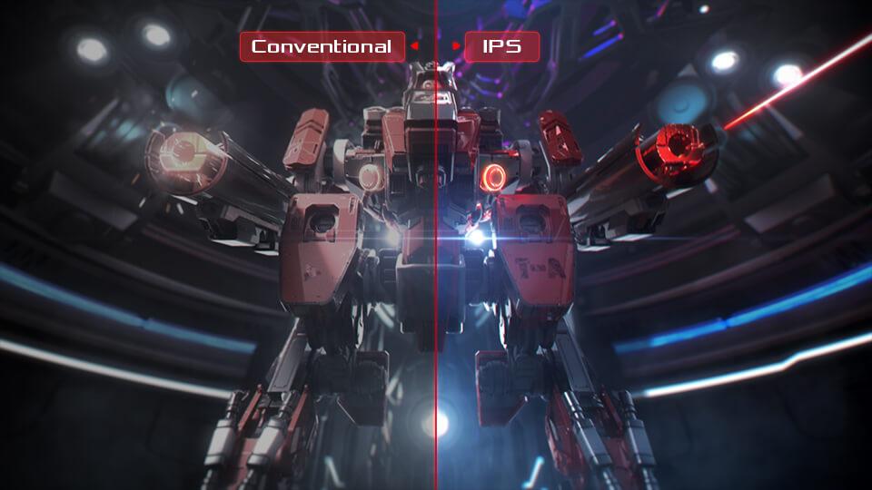 Công nghệ IPS cho màu sắc chính xác, thống nhất hơn