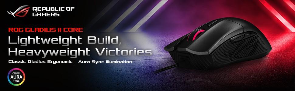 Chuột gaming Asus ROG Gladius II Core