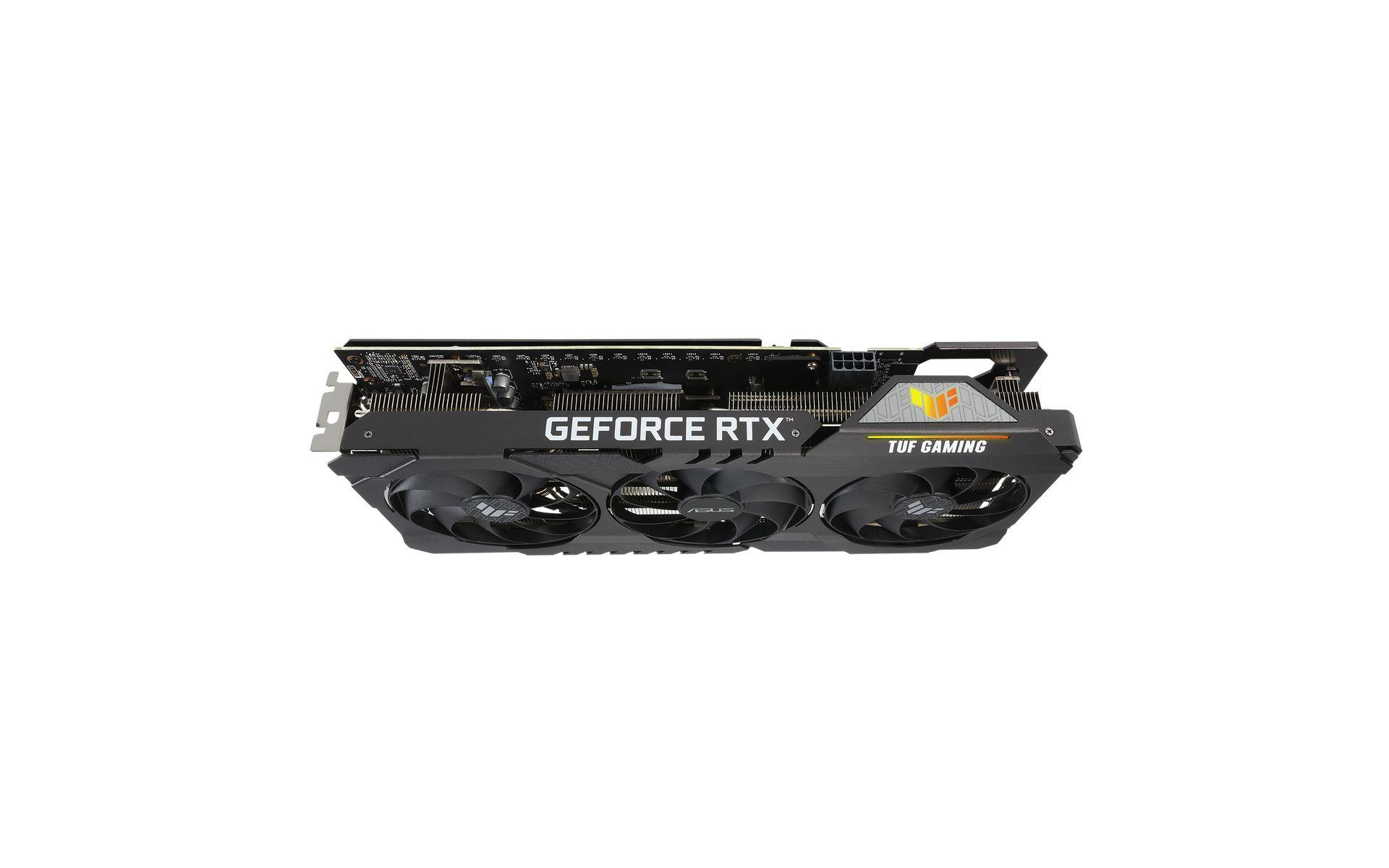 RGB đồng bộ và đèn LED cảnh báo của TUF RTX 3060 ti 8G