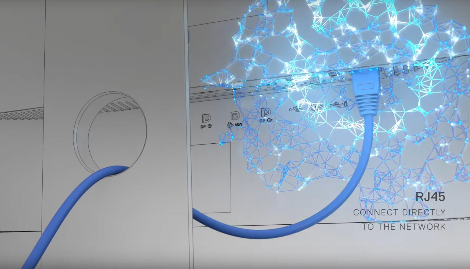 Kết nối với cổng Ethernet RJ-45