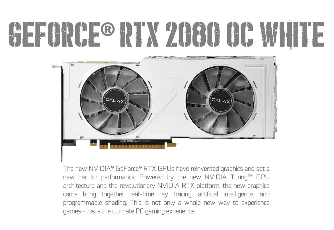 VGA GALAX GeForce RTX 2080 OC White