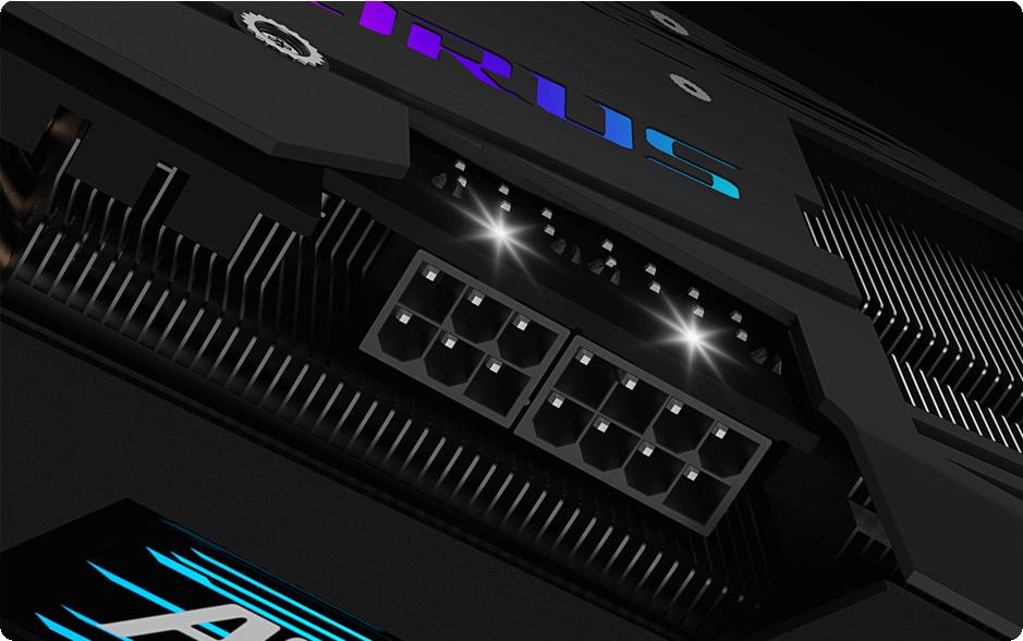 GIGABYTE AORUS RTX 3060 Ti Master 8GB sẽ cảnh báo game thủ bằng đèn báo