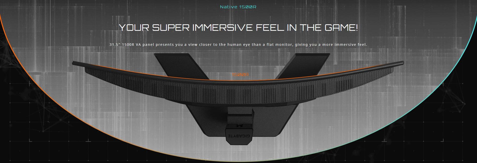 GIGA G32QC đem đến cảm giác siêu nhập vai cho bạn trong trò chơi