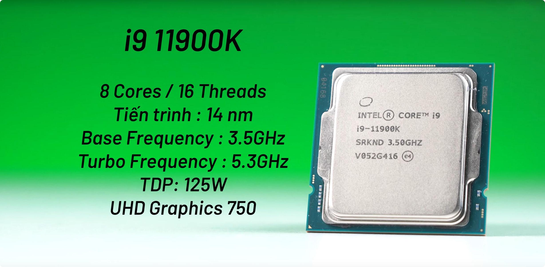 Intel Core i9-11900K Spec