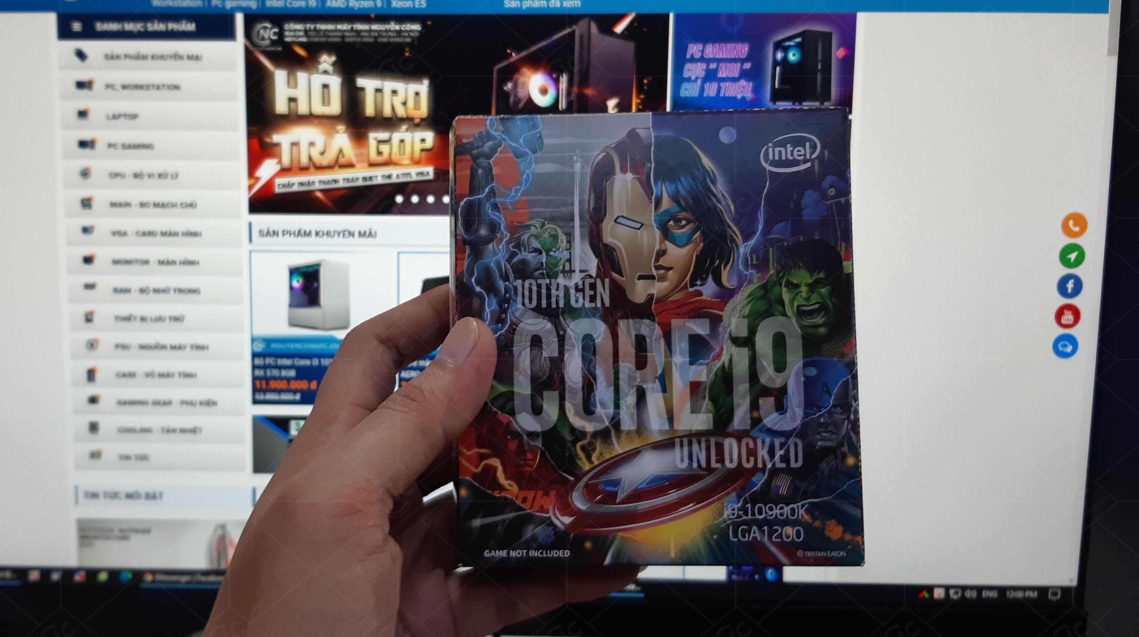 bộ xử lý Intel Core i9-10900K Avengers Edition