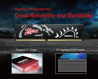 Kingmax Zeus 16GB đảm bảo khả năng tương thích cao