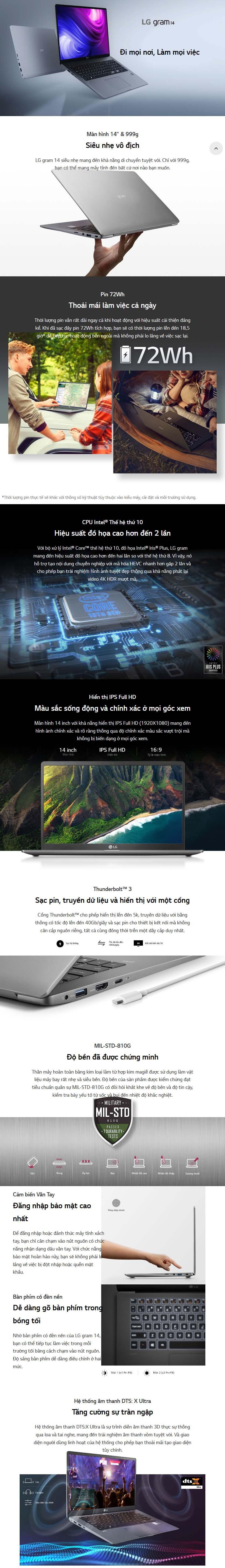 Laptop LG gram 14Z90N-V.AR52A5 overview