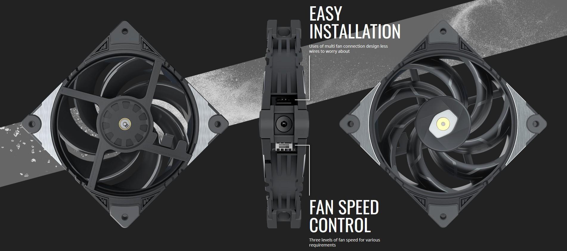 Thiết kế giảm xóc khung quạt độc quyền của Cooler Master