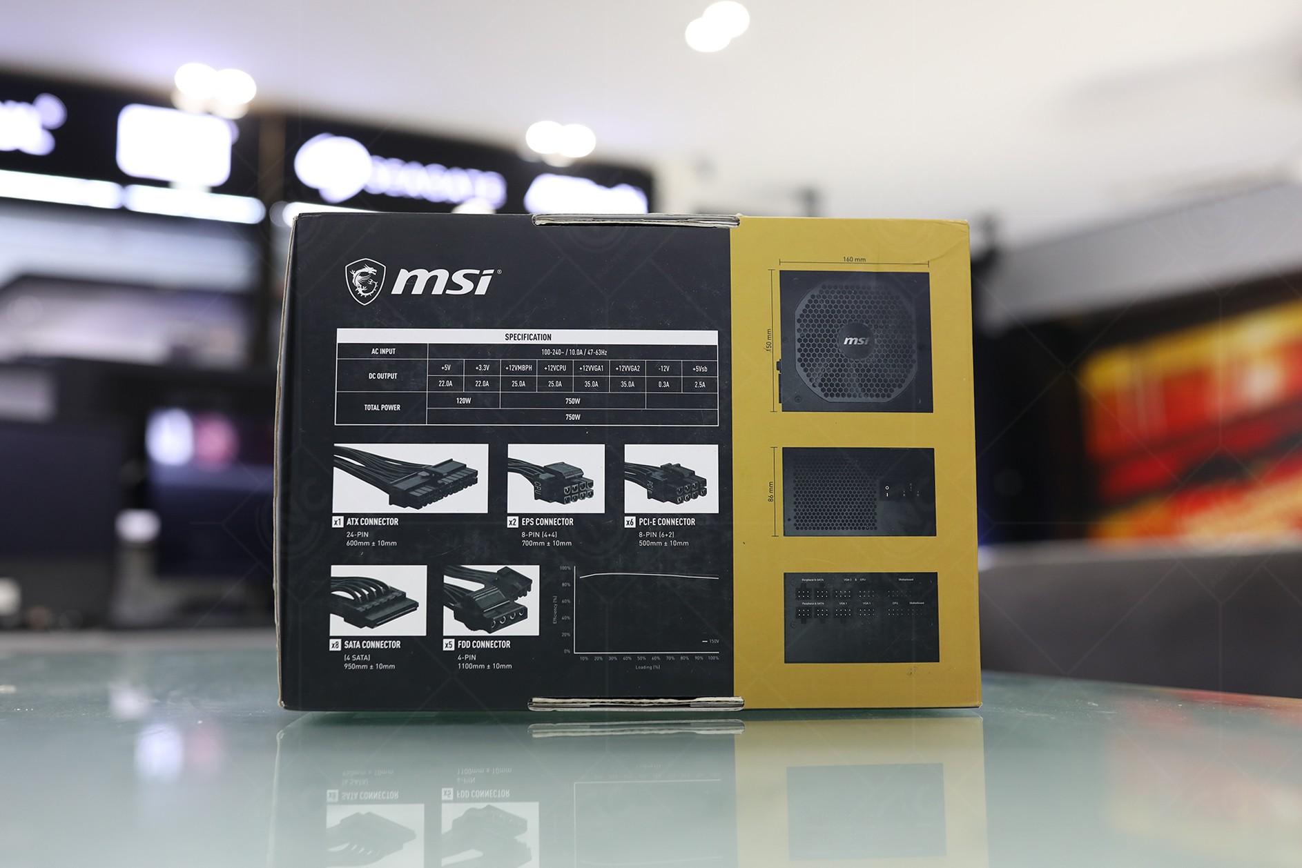 Nguồn máy tính MSI MPG A750GF box