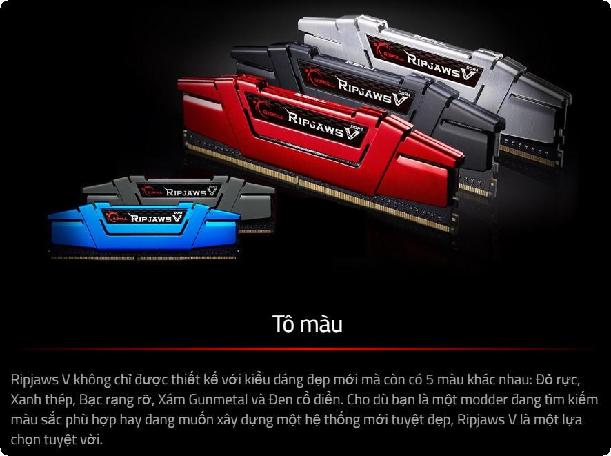 RAM G.Skill RIPJAWS V màu sắc