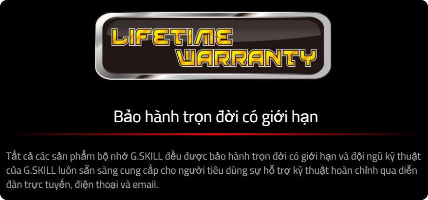 RAM G.Skill RIPJAWS V bảo hành