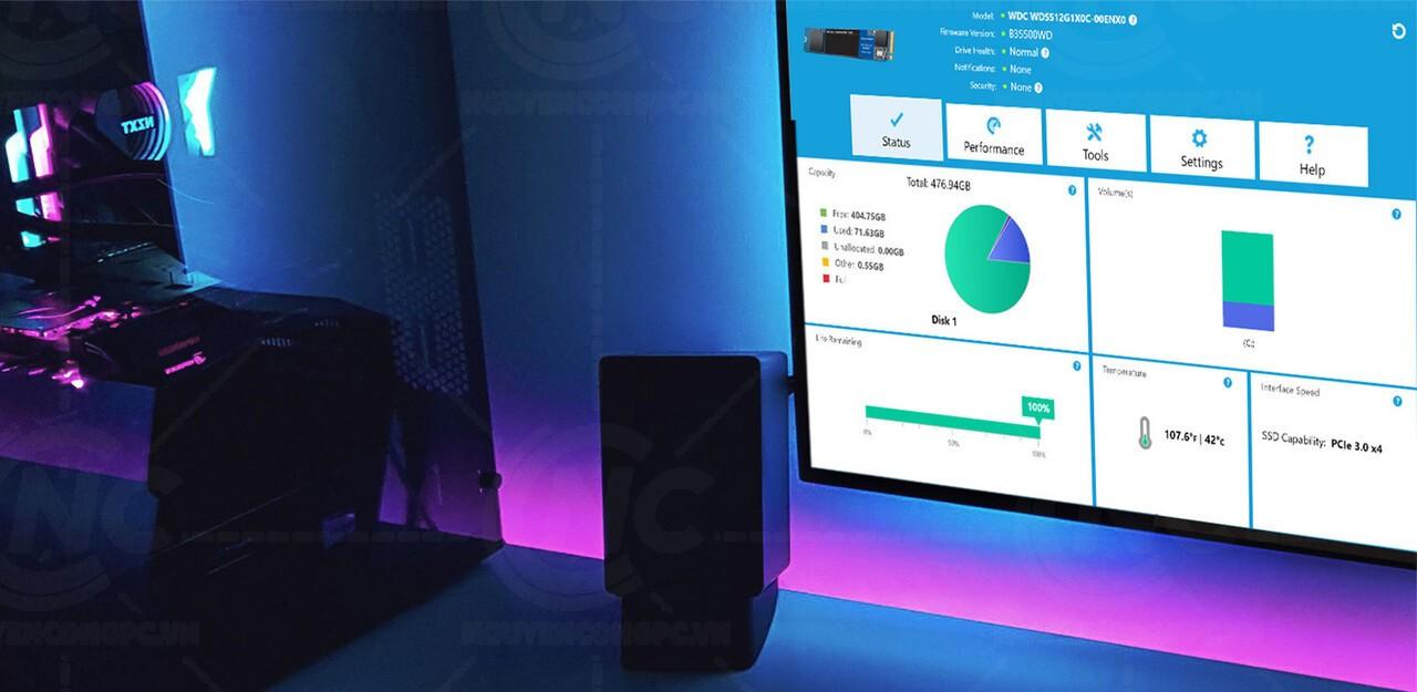 SSD WD Blue 500GB SN550 NVMe PCIe Gen3x4