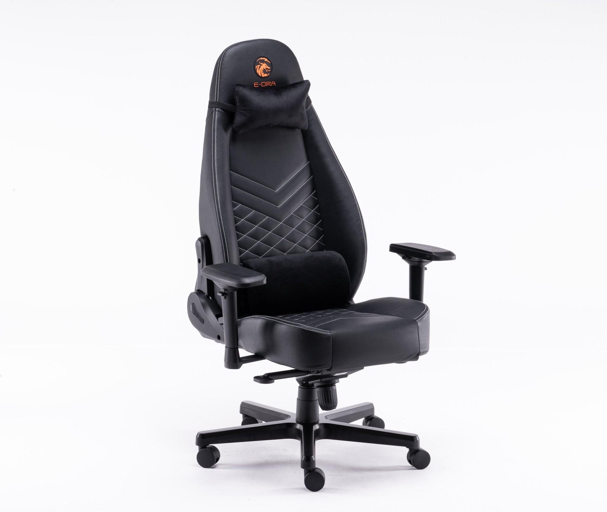 Ghế E-Dra LUX Big Boss EGC2021 Real Leather - Black - Da Thật