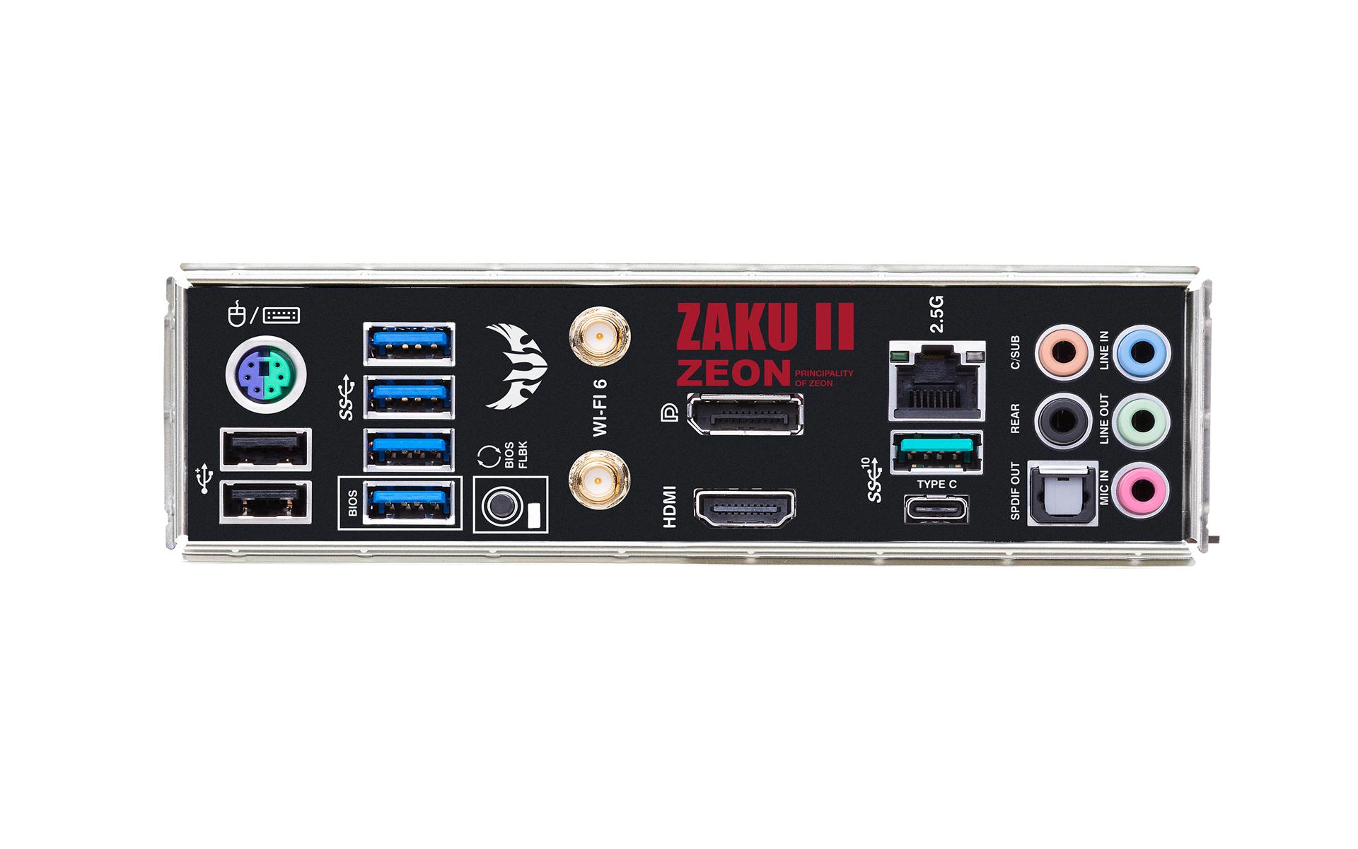 TUF GAMING B550M ZAKU II EDITION (WI-FI) io