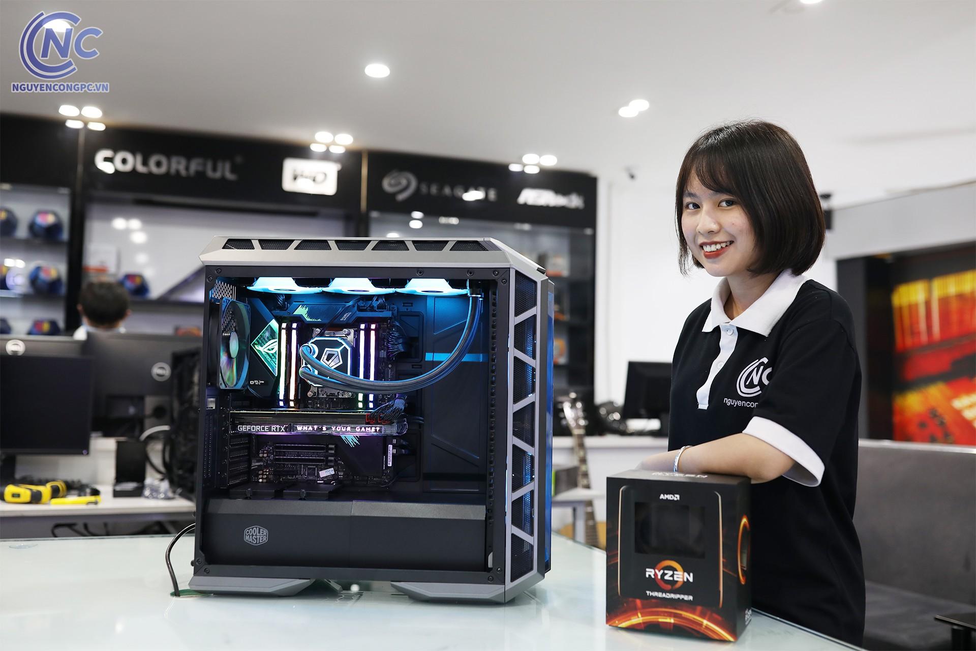 Bộ PC AMD Ryzen Threadripper 3990x / TRX40 / 64gb / SSD M2 256GB /RTX 2080 ti