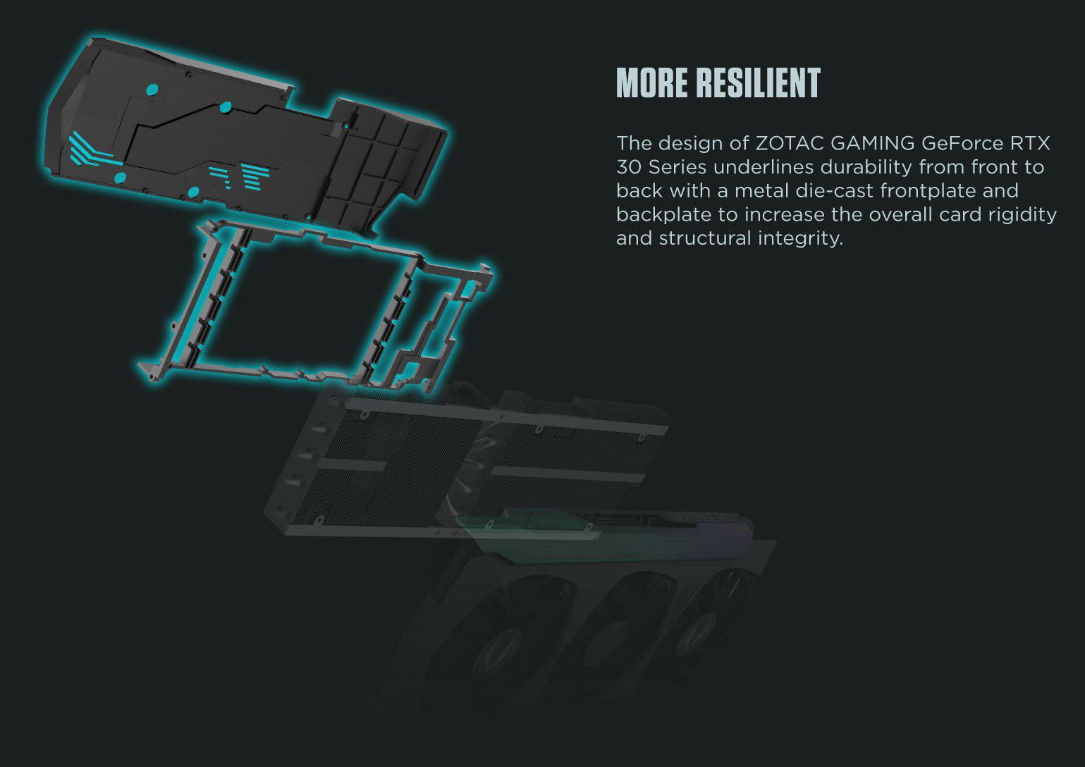 Thiết kế của ZOTAC Gaming RTX 3080 AMP Holo