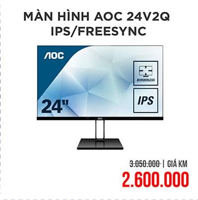 Màn hình AOC 24V2Q IPS FreeSync Ultra Slim FULL HD