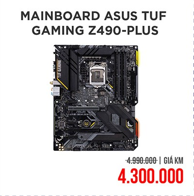 Mainboard ASUS TUF GAMING Z490-PLUS