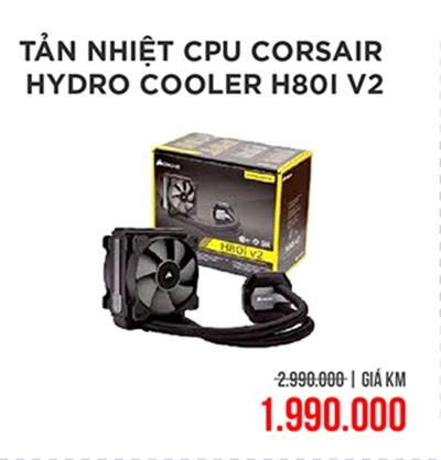 Tản nhiệt CPU Corsair Hydro Cooler H80i V2