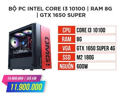 Bộ máy tính gaming intel core i3 10100