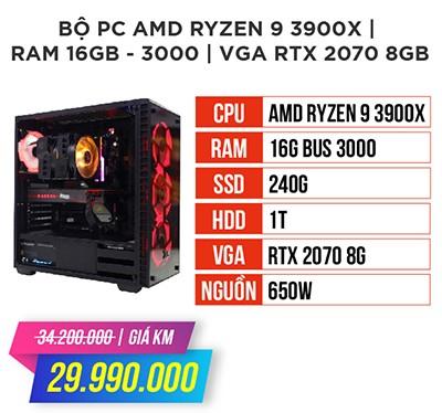Bộ máy tính amd ryzen 9 3900x