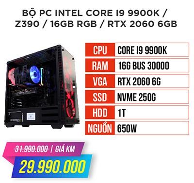 Bộ máy tính intel core i9 9900k