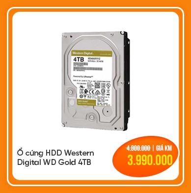 ổ cứng hdd western digital wd gold 4tb