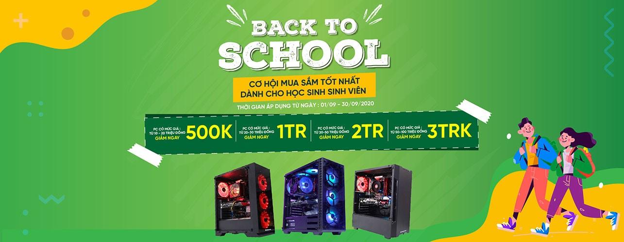 back to school - chương trình khuyến mại mua pc dành cho sinh viên