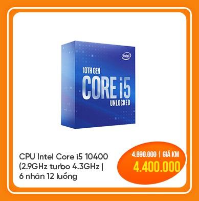cpu intel core i5 10400