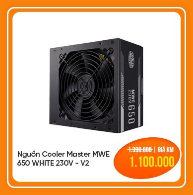 nguồn cooler master mwe 650 white 230v