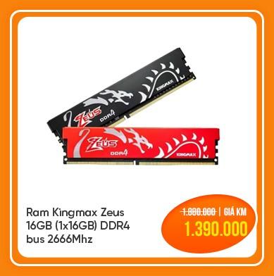 ram kingmax zeus 16gb bus 2666mhz