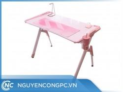 Bàn Gaming Speed R1 Pink (Khung Kim Loại/ Mặt Gỗ )