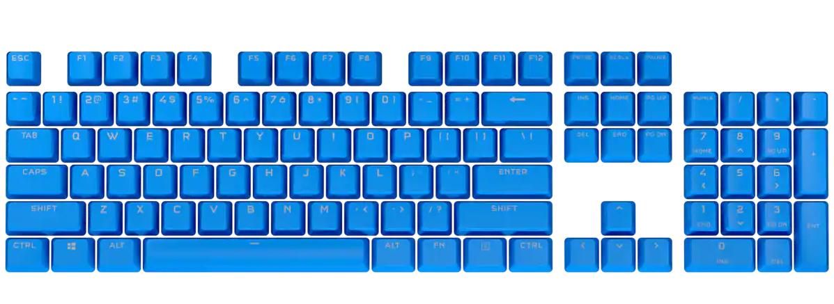 Bộ nút thay thế Corsair Keycap PBT Double-Shot PRO ELGATO Blue