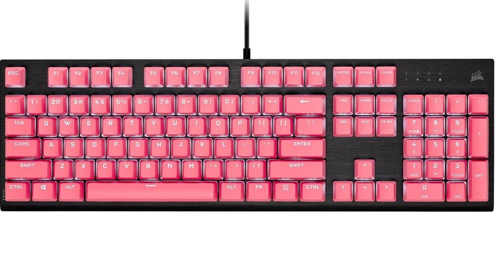 Bộ nút thay thế Corsair Keycap PBT Double-Shot PRO TBD Pink