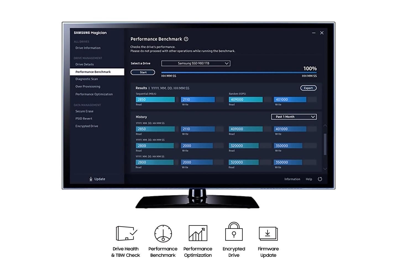 Phần mềm Magician của Samsung giúp quản lý dễ dàng