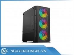 Vỏ case máy tính Kenoo ESPORT G362-3F (3 fan) màu đen