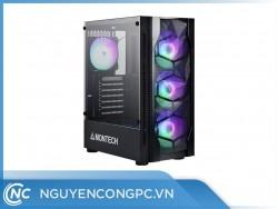 Vỏ case máy tính Montech X1 - Black (4 FAN LED RGB cài đặt sẵn)